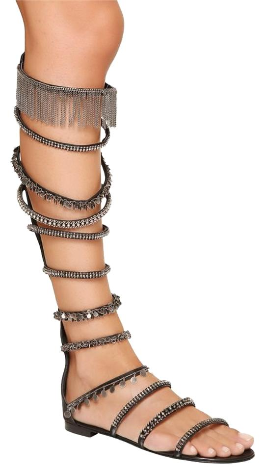 outlet fast delivery Giuseppe Zanotti Embellished Knee-High Sandals reliable cheap price 7zgWStu