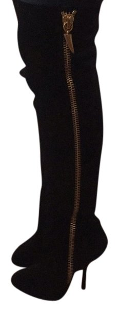 Giuseppe Zanotti Black Suede Over The Knee Boots/Booties Size US 8.5 Regular (M, B)