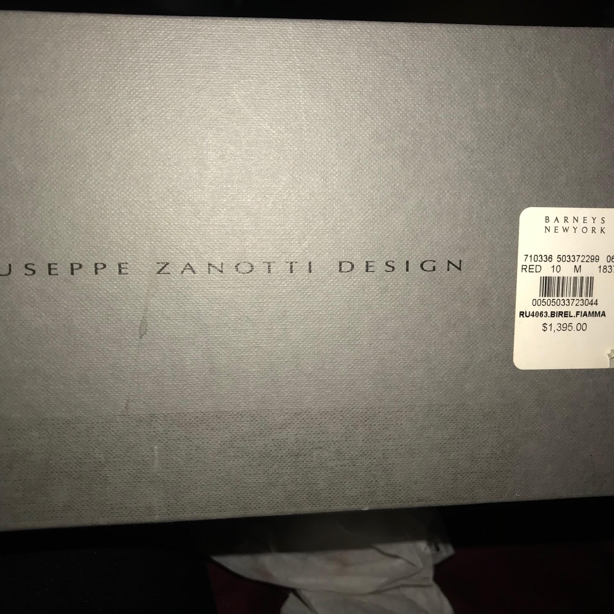 ce13711164bf ... Giuseppe Zanotti Red       Gold High Top Double Ski-buckle Sneakers  Size US ...