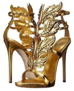 Giuseppe Zanotti Wing Coline Crystal Giuseppe Gold Sandals