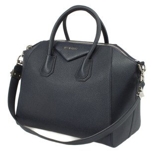 Givenchy Antigona Goatskin Satchel Tote in Navy