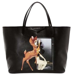 Givenchy Antigona Leather Bambi Tote in Black