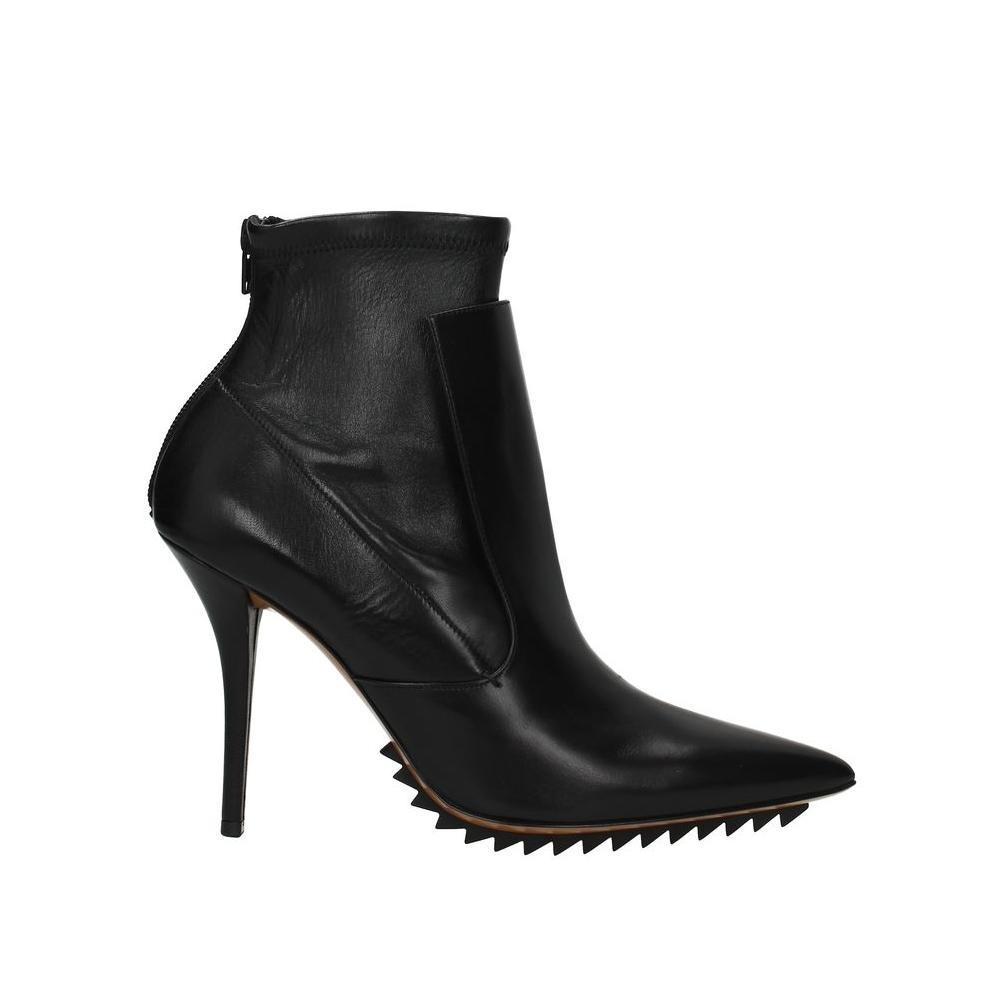 Givenchy Black Leather Ankle Boots/Booties Size EU 38 (Approx. US 8) Regular (M, B)