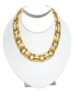 Givenchy Givenchy Gold Tone & Brushed Gold Tone Round Link Necklace.