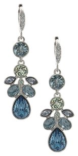 Givenchy Givenchy Silvertone Blue Drop Earrings