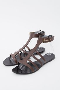 Givenchy Dark Leather Brown Sandals