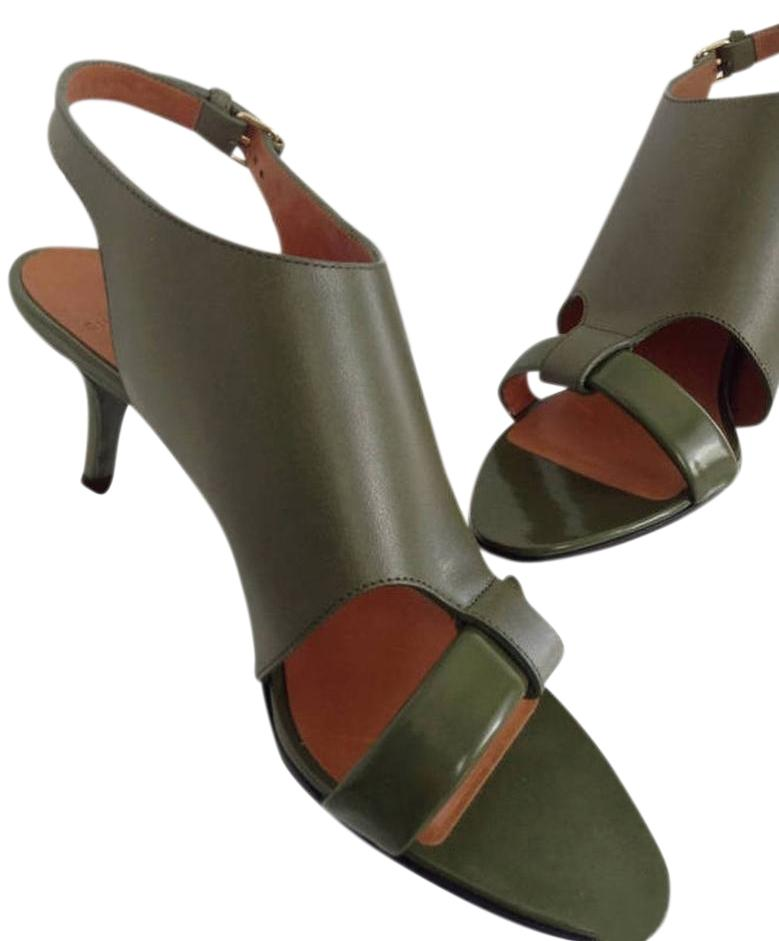 Givenchy Leather Green Lucrezias Leather & Patent Leather Givenchy Slingback Sandals Size EU 38 (Approx. US 8) Regular (M, B) c4adf4