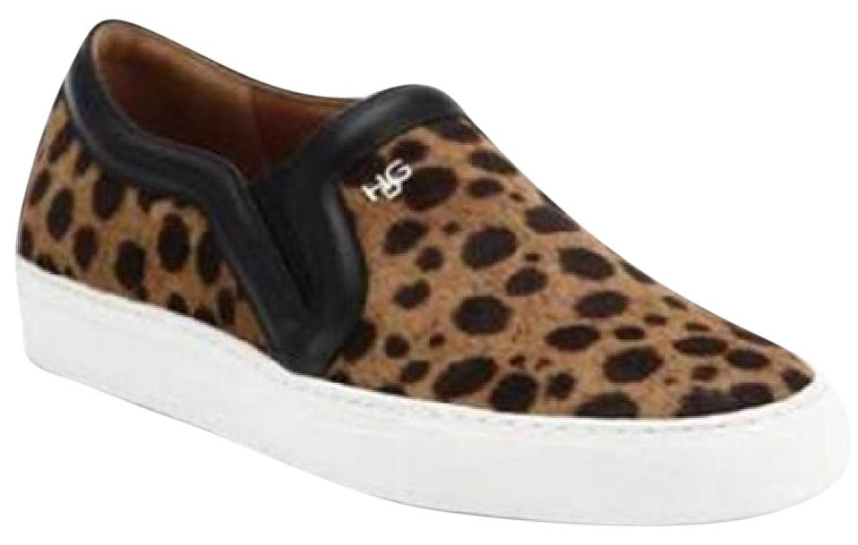 2fdb6eaed Givenchy Leopard Pony Calf Calf Calf Hair Slip On Skater Sneaker Loafers  Flats Size US 11 4d0a01