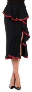 Givenchy Ruffle Red Skirt Black
