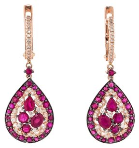 2.72CTW RUBY AND DIAMOND EARRINGS