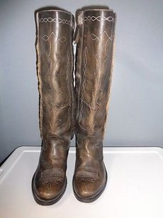 Golden Goose Deluxe Brand With Brown And Tan Boots