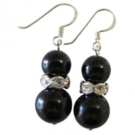 Gorgeous Black Jewelry Black Pearls Bridal Bridemaids Jewelry