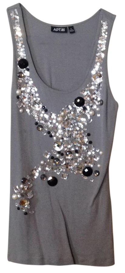 Gray Embellished