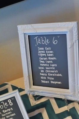 ... Chalkboard Table Signs Reception Decoration. 123456