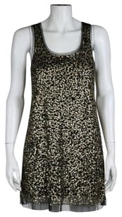 Gryphon York Womens Sequin Formal Above Knee Sheath Dress