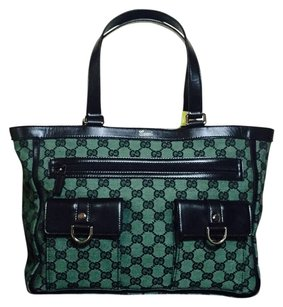 Gucci Abbey Gg Tote in GREEN AND BLACK