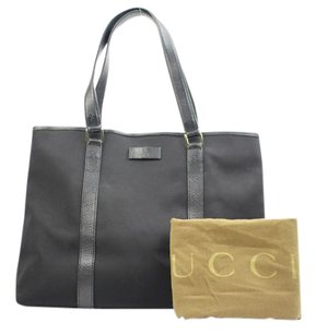 Gucci Abbey Pelham Horsebit Tote in Black