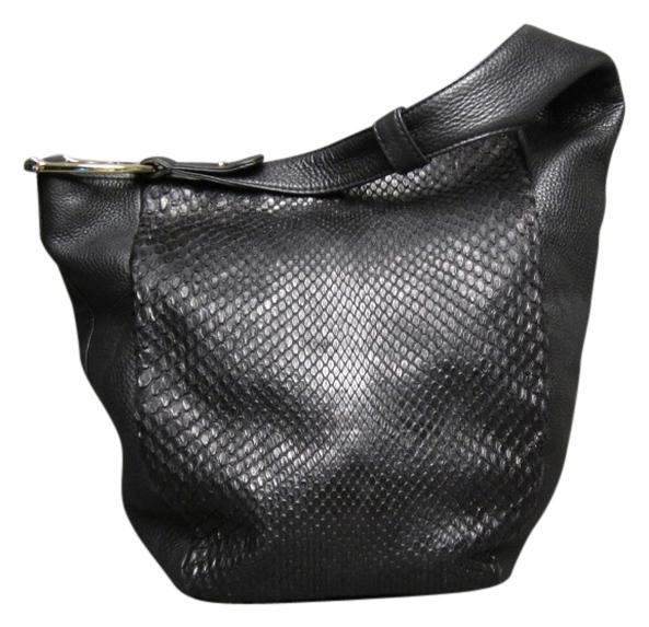 Gucci And Greenwich Large Black Python Skin Leather Hobo ...
