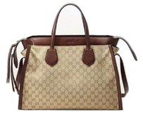 Gucci Runway Gg Sand Canvas Tote in Beige