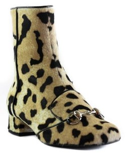 Gucci 362993 Womens Leopard Multi-Color Boots