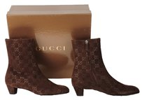 Gucci Ankle Suede Leather Brown Boots