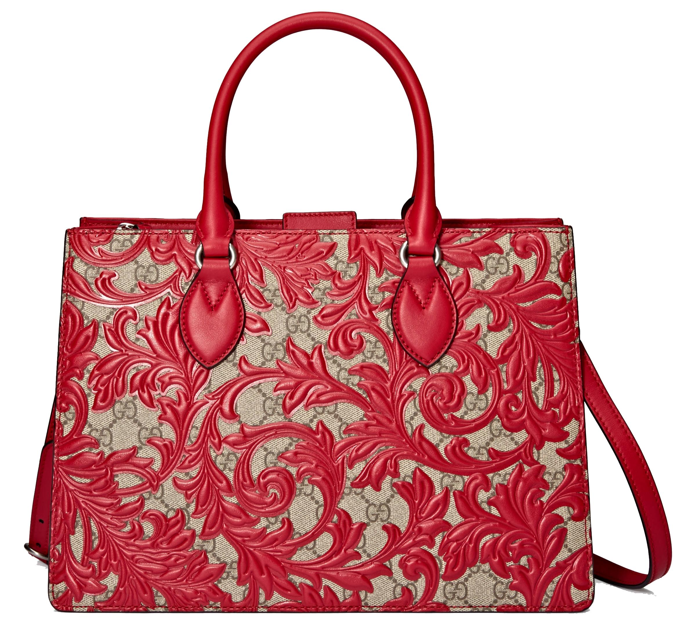 Gucci logo top handle tote - Red Gucci fw9SxXjS