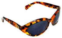 Gucci Authentic GUCCI Goldtone GG 2402/N/S D19 61 19 Black Lens Brown Sunglasses Italy