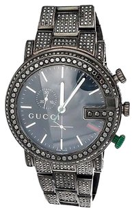 Gucci Black Diamond Gucci 44mm Ya101331 Watch Ct Custom Mens 101 G All Real