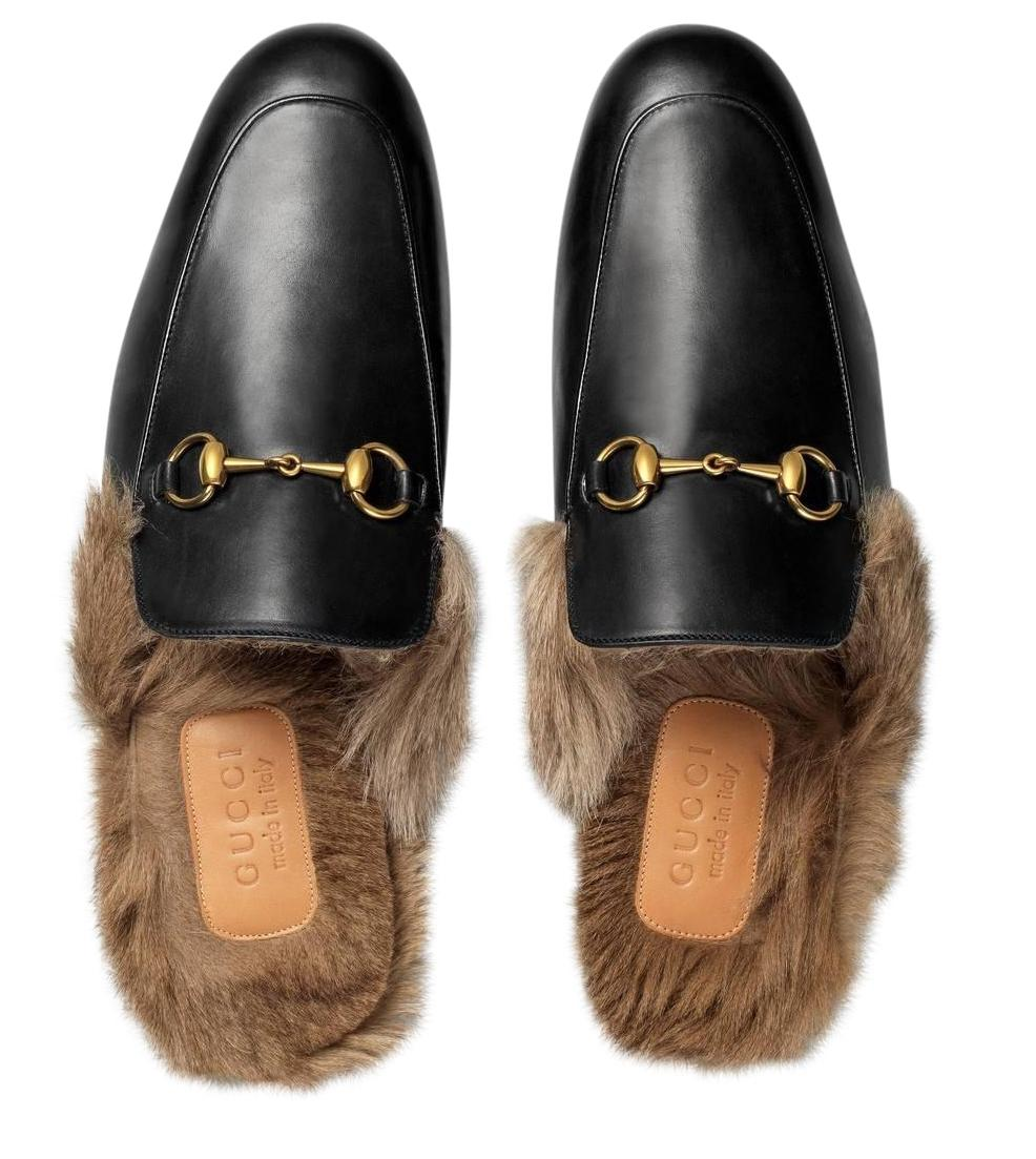 GucciPrincetown Fur Mule Slides