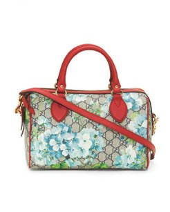 Gucci Blooms Canvas Small Satchel in Blue