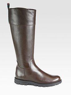 Gucci Tall Knee Leather Brown Boots