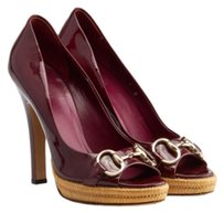 Gucci Burgundy Platforms