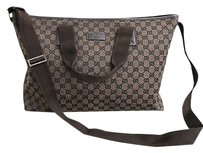 Gucci Canvasleather Tote Shoulder Bag