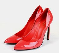 Gucci Patent Leather Heel Pink 321136 6620 Hot Pink Pumps