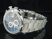 Gucci Diamond Gucci Watch Ya101309 Mens Ct. Custom Iced Band Black Face Wchrono.