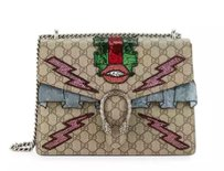 Gucci Dionysus Gg Canvas Lightening Shoulder Bag