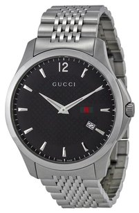 Gucci G-Timeless Black Dial Stainless Steel Men's Watch YA126309