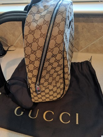 Gucci Vintage Canvas Backpack Image 3