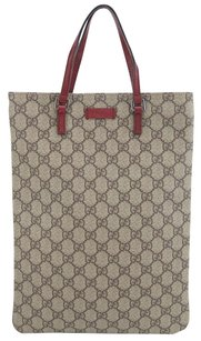 Gucci Gg Canvas Tote in Brown and red