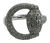 Gucci GUCCI 18K white gold and diamond horse bit ring
