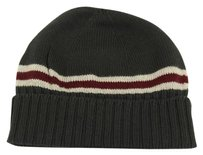 Gucci GUCCI 294731 Men's Wool with Web Stripe Beanie Hat, Gray Size M