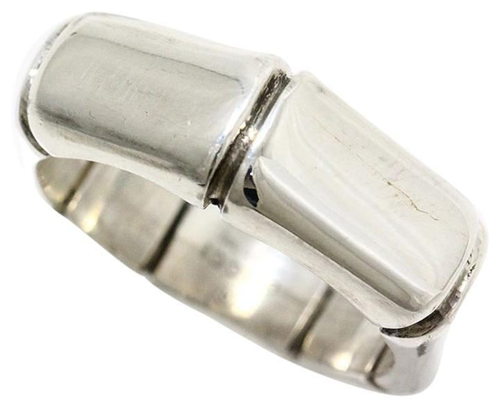 gucci gucci 925 sterling silver bamboo ring us size 7 25