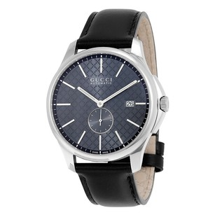 Gucci Gucci Automatic Grey Dial Leather Mens Watch