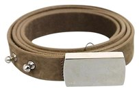 Gucci Gucci Belt Wengraved Logo Plaque Buckle Brown 9538251633 2814