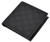 Gucci GUCCI Canvas GG Guccissima Coin Pocket Bifold Wallet