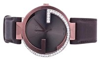 Gucci Gucci Copper Brown Pvd Mm Interlocking Gg Diamond Watch 1.25 Ct Ya133207