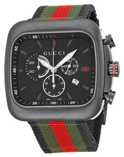 Gucci GUCCI Coupe Chronograph Black Dial Nylon Strap Men's Watch YA131202