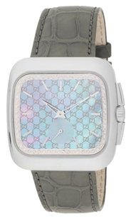 Gucci Gucci Diamond, Stainless Steel & Croc-Embossed Leather Watch
