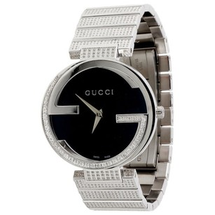 Gucci Gucci Diamond Watch Gc Ya133307 Ladies 37mm Interlocking Brushed Black Dial Ct