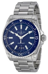 Gucci GUCCI Dive Blue Dial Stainless Steel Men's Watch YA136203